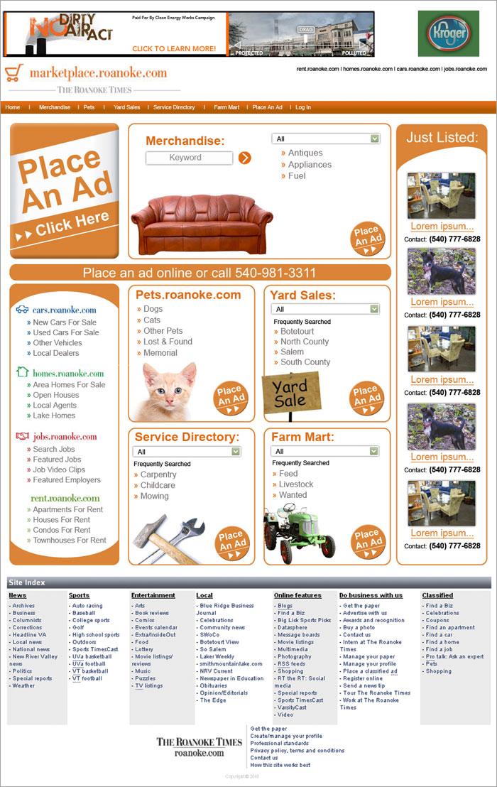 The Roanoke Times Marketplace Landing page – Nakia Shelton